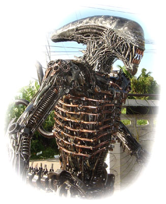 Metal  on Scrap Metal Art Work By